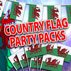Multi Packs containing bunting, large flags and paper flags
