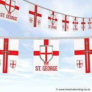 St. George sword and shield  Bunting image