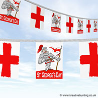 St. George Bunting - knight in shining armour design image