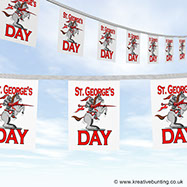 St. George Bunting image - Knight of St. George design